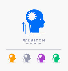 mind creative thinking idea brainstorming 5 color vector image
