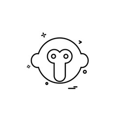 monkey icon design vector image