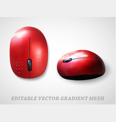 mouse realistic gradient mesh vector image