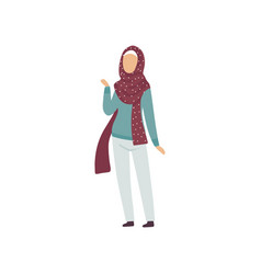 muslim woman in modern clothing and traditional vector image