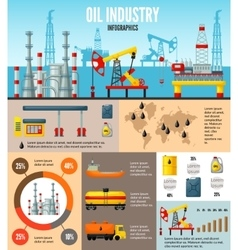 Oil Industry Infographic Template vector