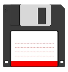 Old floppy disc for computer data storage vector