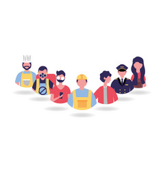 People labor day vector