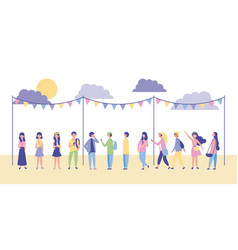 People outdoor activities vector