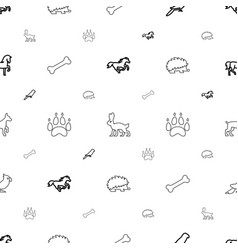 Pet icons pattern seamless white background vector
