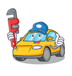 Plumber taxi character mascot style vector