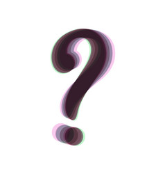 Question mark sign colorful icon shaked vector