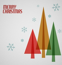Retro Christmas card with christmas trees vector image