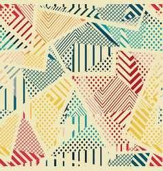 retro cloth seamless texture vector image