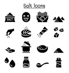 Salt icon set graphic design vector