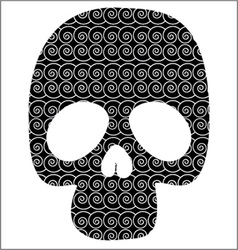 Scull with graphic pattern vector