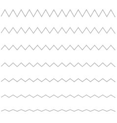 set of seamless lines dots zigzag graphic design vector image
