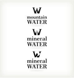 Set water symbol vector image