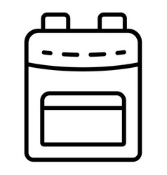 simple backpack icon outline style vector image