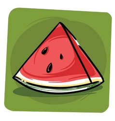 Sliced watermelon vector image