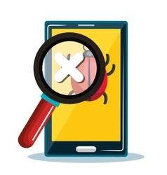 Smartphone error system safety icon design vector