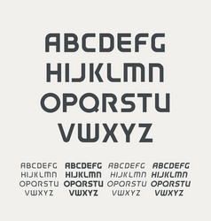 Sport uppercase alphabet futuristic technology vector