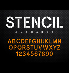 stencil font 004 vector image