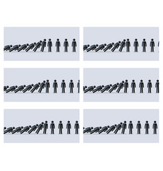 Stick figures animation sprite gray background vector