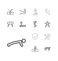 Strong icons vector