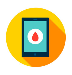 tablet blood circle icon vector image