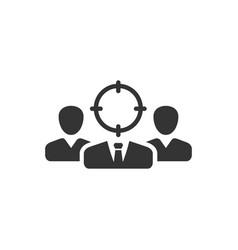 Target market icon vector