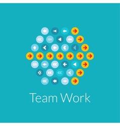 Team work flat design concept vector