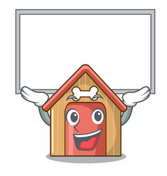 up board cartoon funny dog house with dish vector image