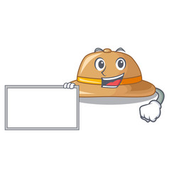 With board cork hat isolated on the mascot vector