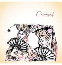 with Carnival vector image