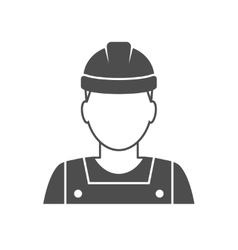 Worker avatar icon vector image