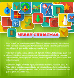 x-mas greeting card vector image