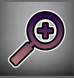 zoom sign violet gradient vector image