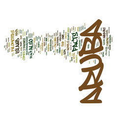 Aruba facts text background word cloud concept vector
