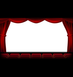 Auditorium with seating red curtain vector