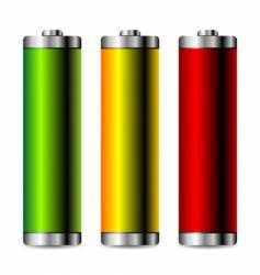 battery levels set vector image vector image