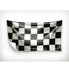 Checkered banner vector