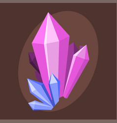 magic crystals nature gem geology precious jewelry vector image