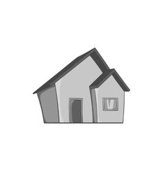 One storey house icon black monochrome style vector image vector image