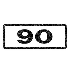 90 watermark stamp vector image