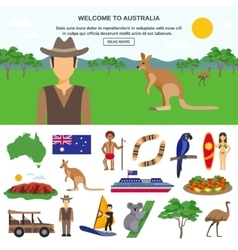 Australia Travel Concept vector image