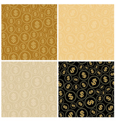 beige and black backgrounds with dollars vector image vector image