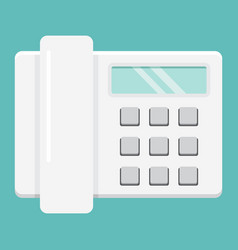 Home phone flat icon household and appliance vector