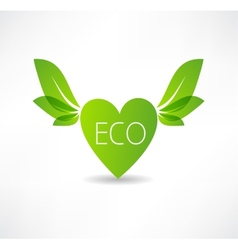 love concept to ecology icon vector image vector image