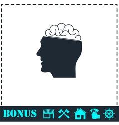 Human brain icon flat vector image
