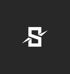 Letter s logo paper material design style vector