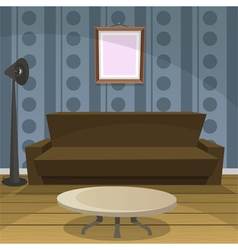 Retro Room Blue vector image vector image