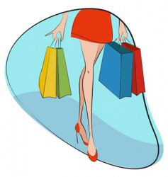 shopping concept vector image