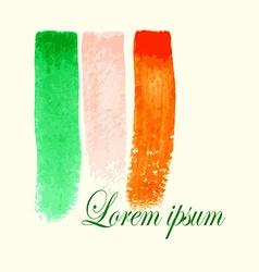 Watercolor Flag Strokes vector image