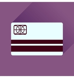 Flat icon with long shadow bank card vector
